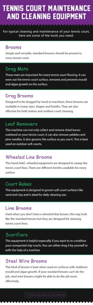 Tennis Court Cleaning Equipment